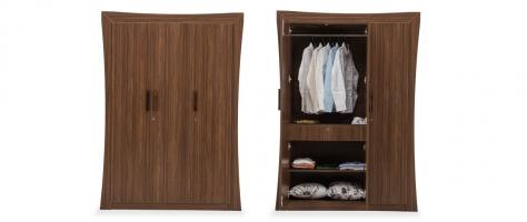 Willow 3 Door Engineered Wood Wardrobe
