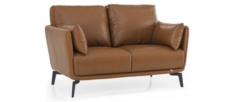 Brennan 2 Seater Brown Leather Sofa