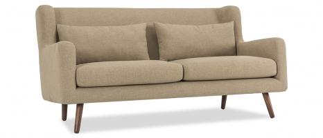 Harper 3 Seater Beige Fabric Sofa