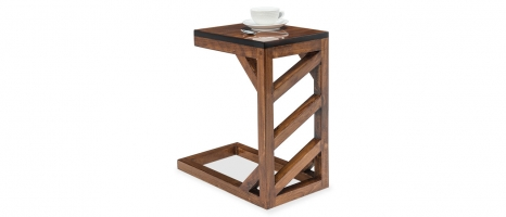 Pole Solid Wood Rectangular C-Side Table