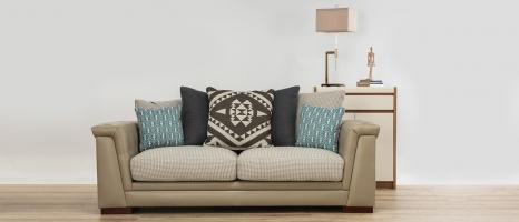 Durian Margaret Wooden Legs Fabric Sofa