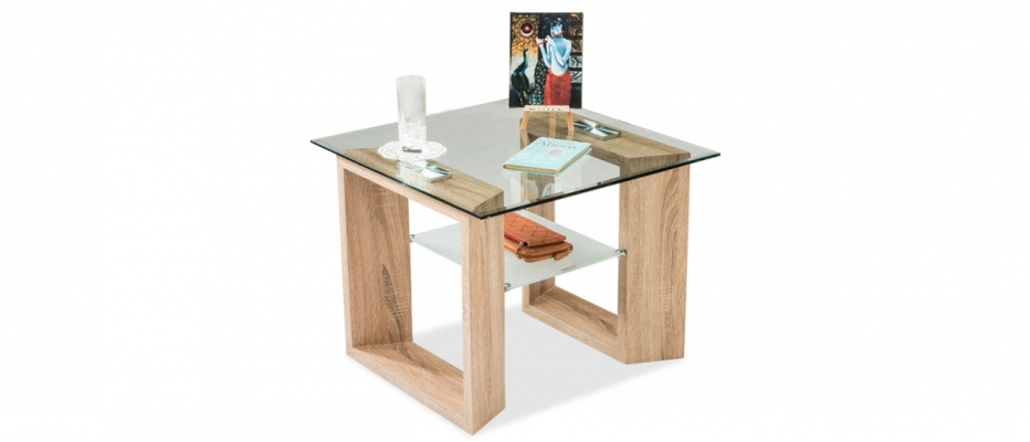 Buy Lawrence Glass Top Square Side Table