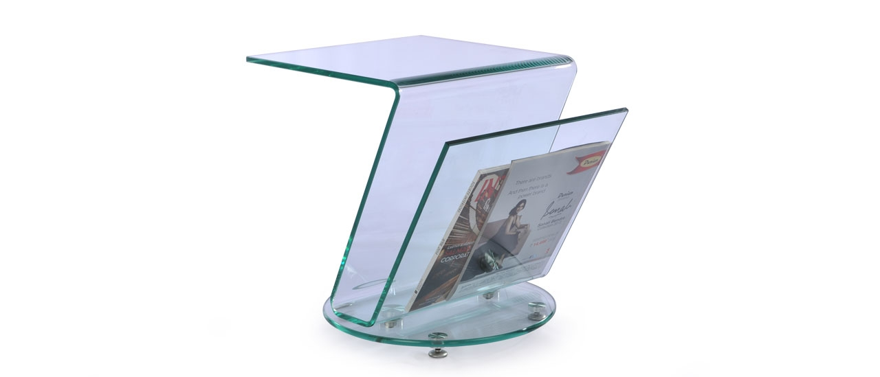 Buy Zee Clear Glass Square Side Table At Durian Side