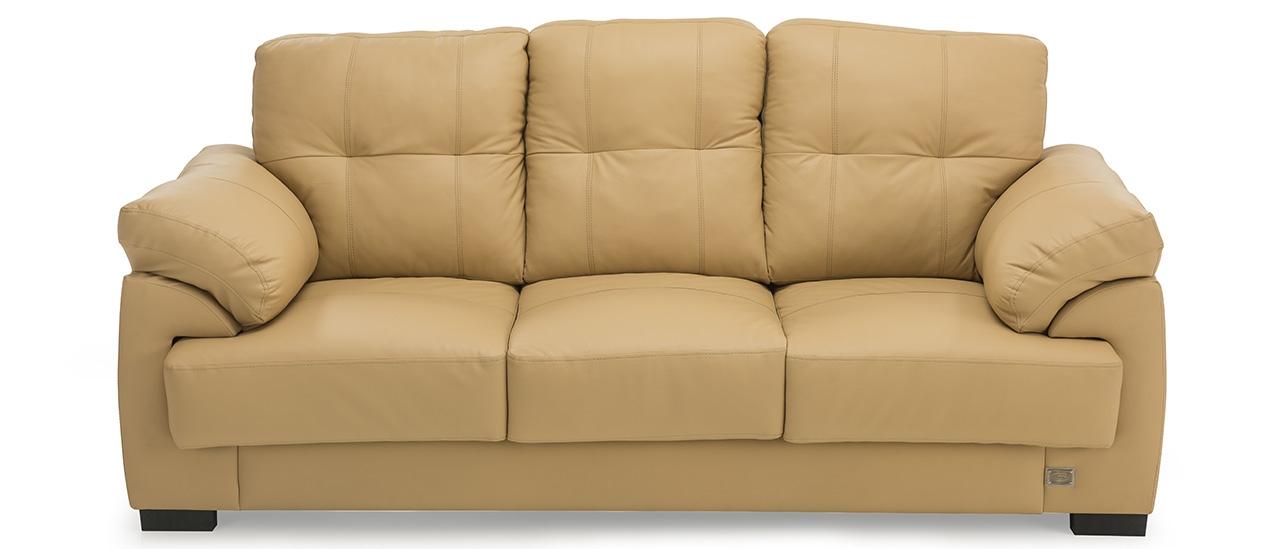 Leslie Leather Sofa, 3 Seater