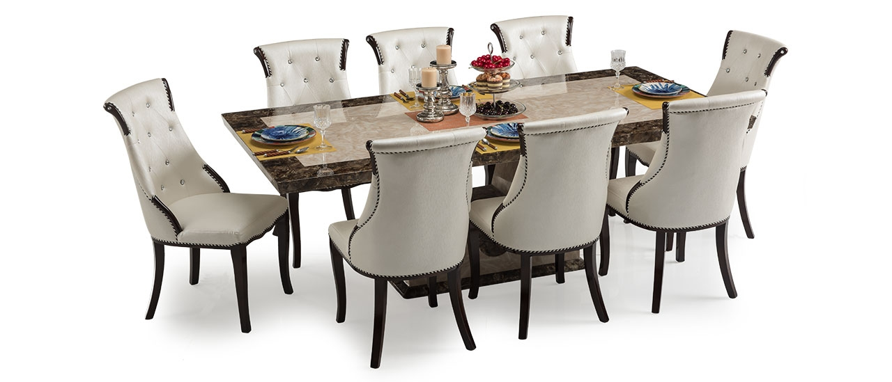 Siberian 8 Seater Marble Dining Set Buy Dining Sets Online Durian