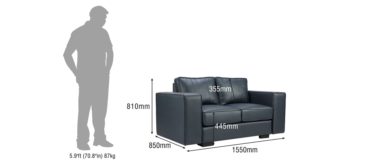Buy Marshall 2 Seater Leatherette Sofa Online From Durian