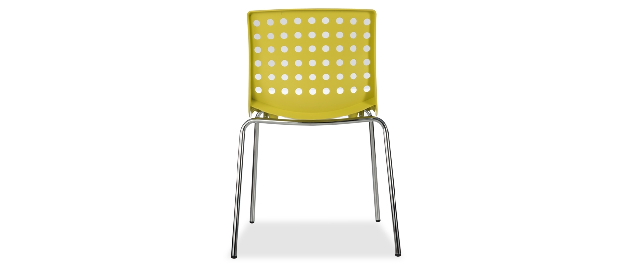 Buy Zack Yellow Stacking Chair Online From Durian