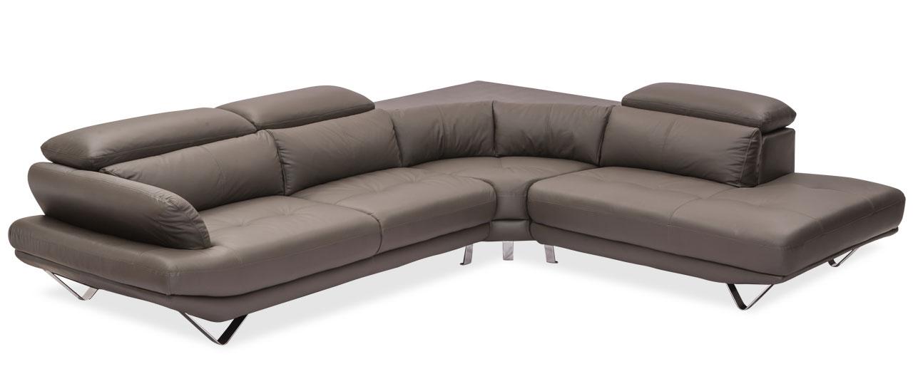 Omega L-Shape Sofa   6 Seater Leather Sofa For Living Room