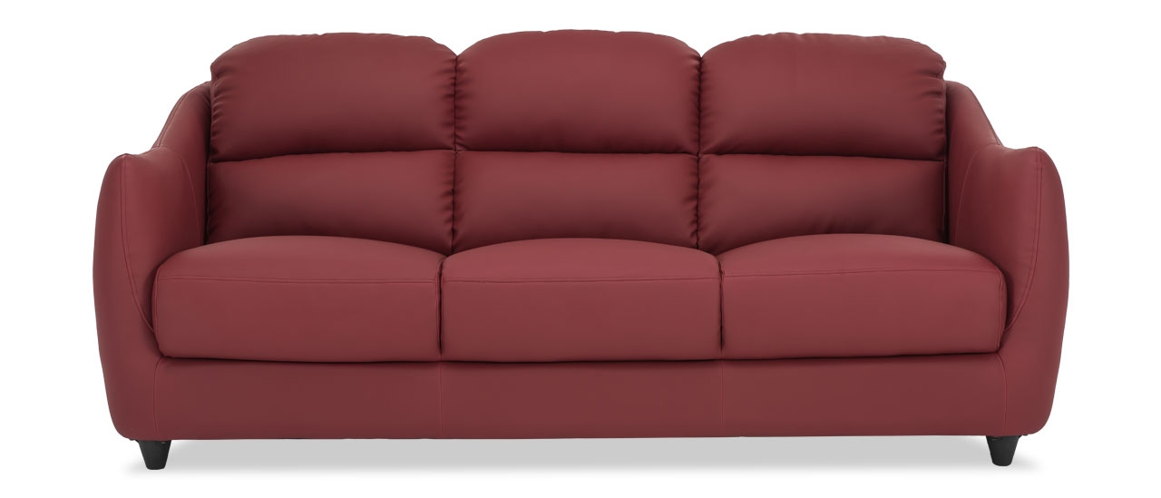 Buy Blaze 3 Seater Red Leatherette Sofa Living Room