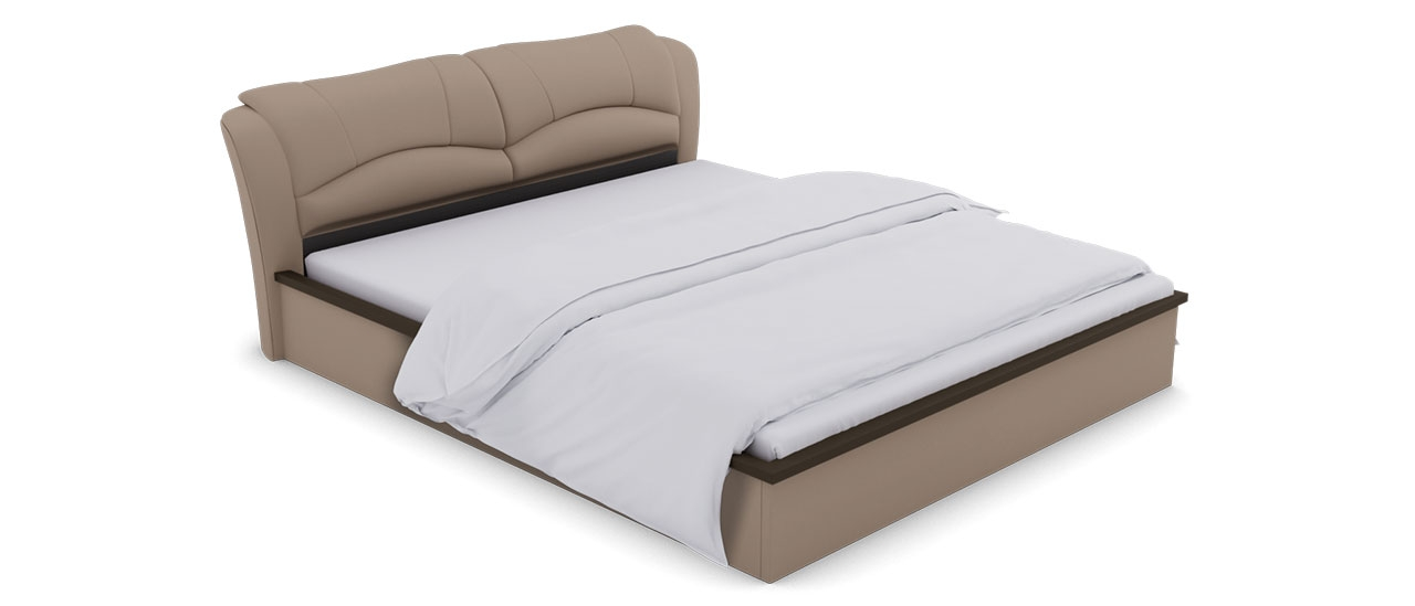 c21cdb3c6b Buy Winston Beige Leatherette Hydraulic King Bed | King Beds Online ...
