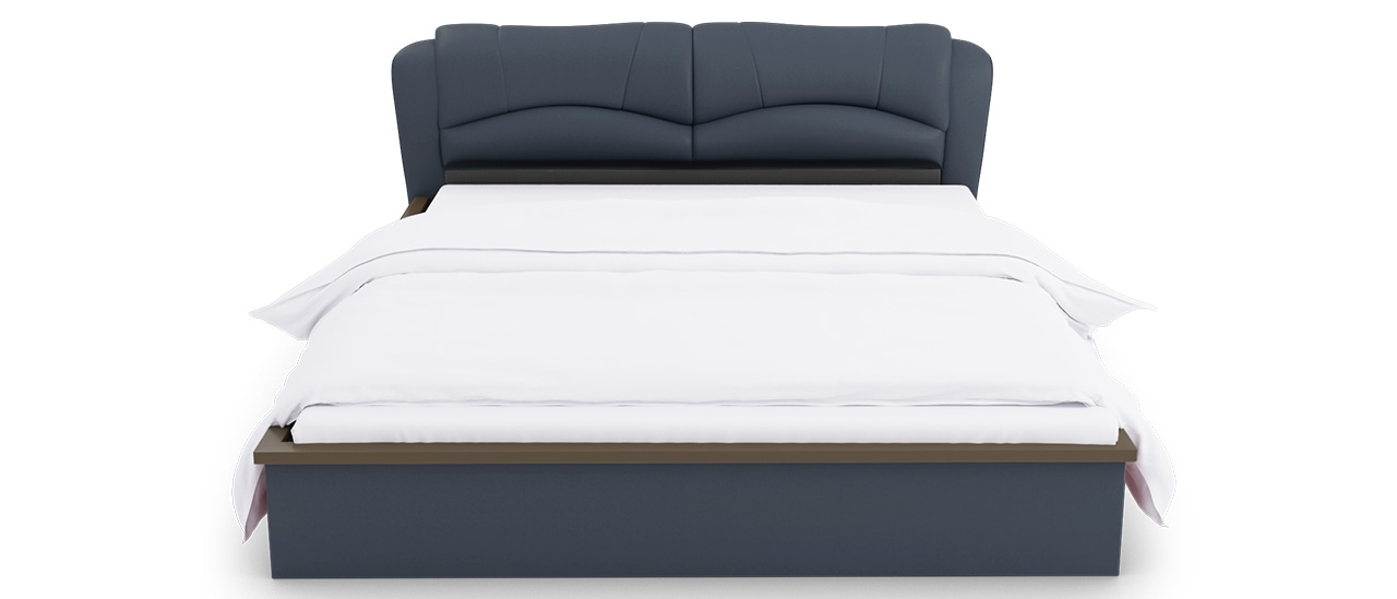 847a0db6ee Buy Winston Blue Leatherette Hydraulic Queen Bed | Designer Beds ...