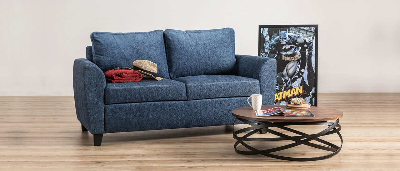 Buy Curtis 2 Seater Fabric Sofa At Durian Contemporary