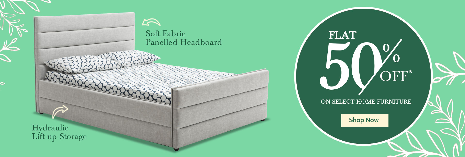 Flat 50% Offer On Home Furniture