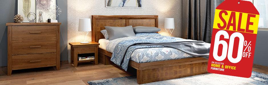 Bedroom Furniture Set Online Upto 60% Off | Buy Soild Wood Beds ...