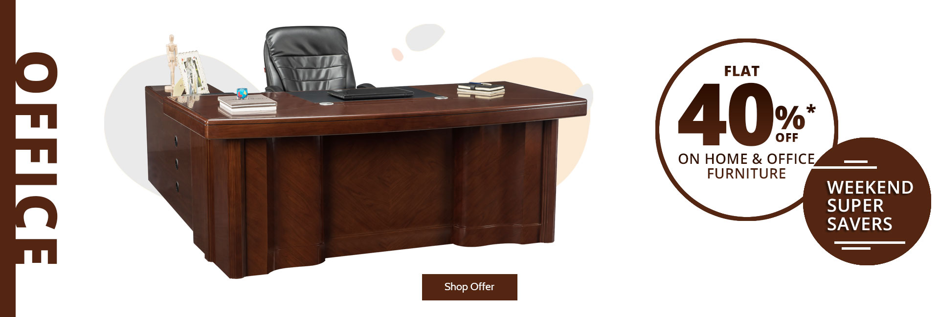 Flat 40 % off on office desk !
