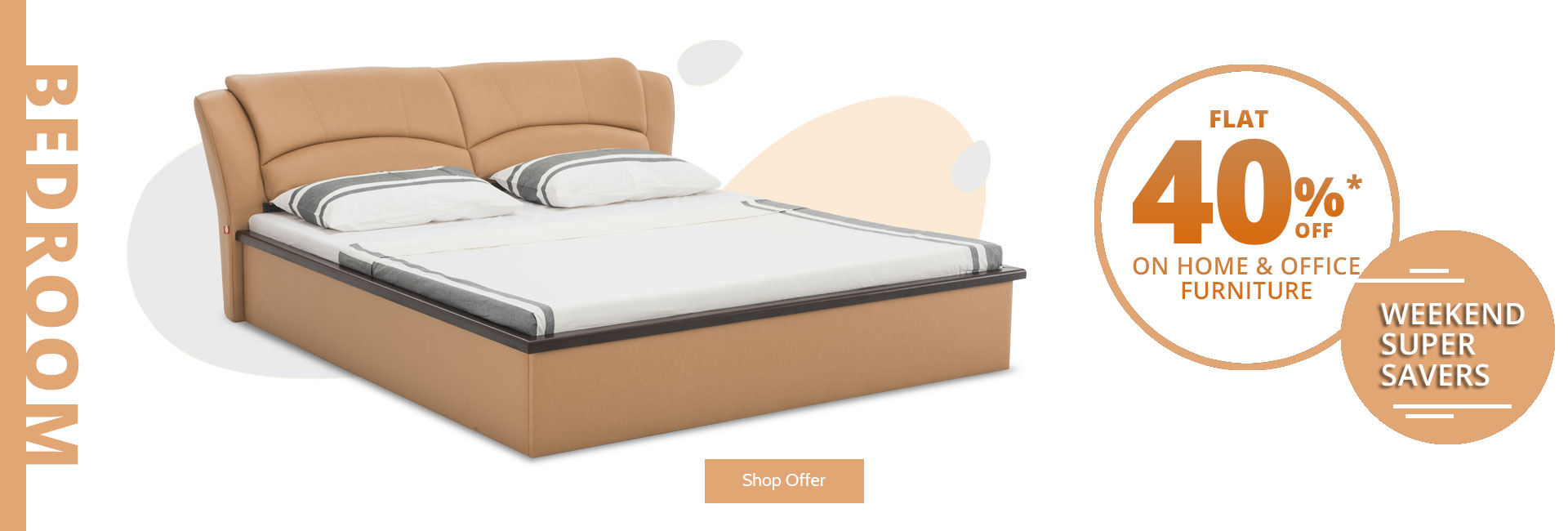 Flat 40% off on bedroom furniture !