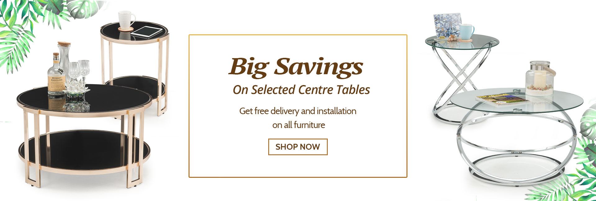 Big Savings On Coffee Tables !