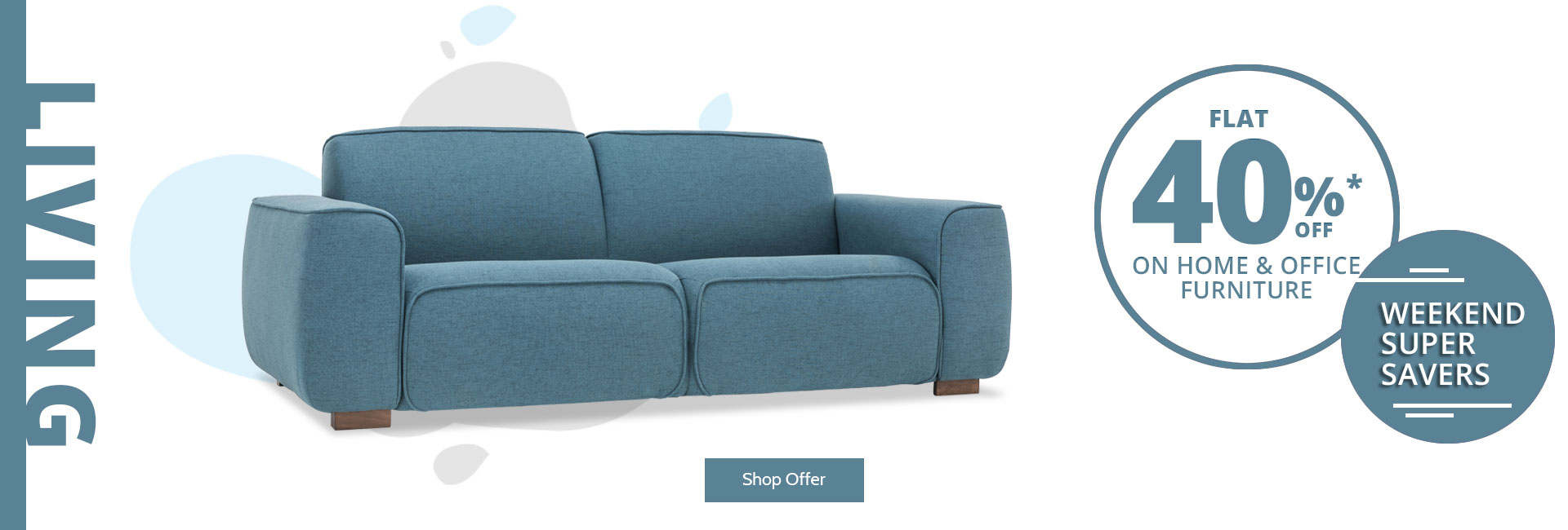 Flat 40% Off On Sofas !