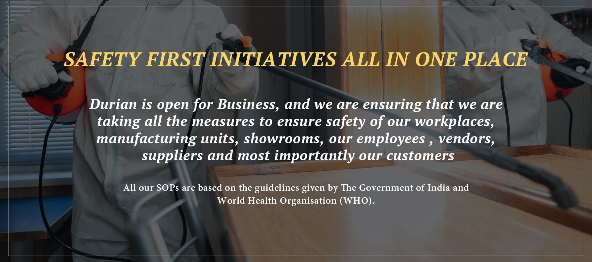 Safety first initiatives all in one place
