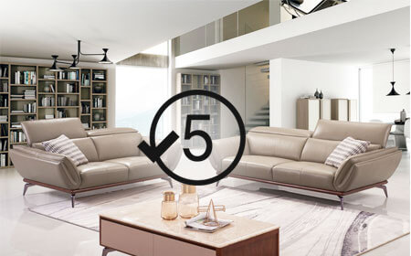 5 years Warranty on Home & Office Furniture at Gurgaon Store