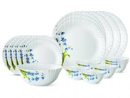 Lavender 19 Pc Opalware Dinner Set
