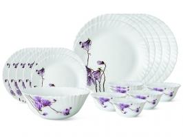 Lily Blossom 19 Pc Opalware Dinner Set