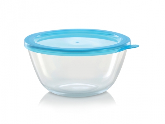 Mixing Bowl with Blue Lid, 900 ml