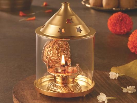 Shree Ganpati Diya Brass