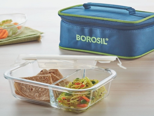 Split Duo Microwavable Glass Lunch Box