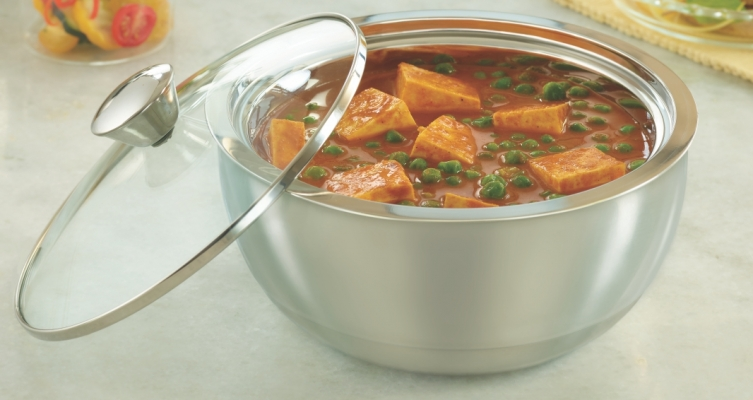 Stainless Steel Insulated Curry Server, 2.7 ltr
