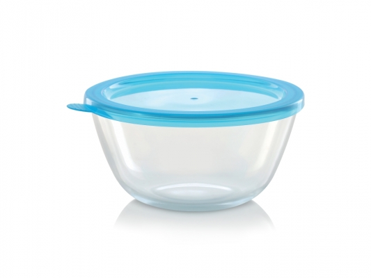 Mixing Bowl with Blue Lid, 500 ml