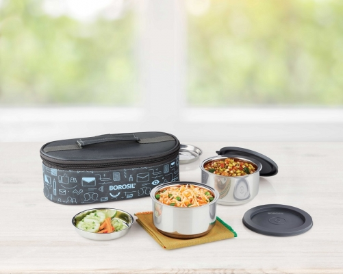 Carry Fresh Staineless Steel Insulate Lunch Box