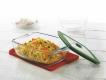 Rectangular Dish With Green Lid 1.1L